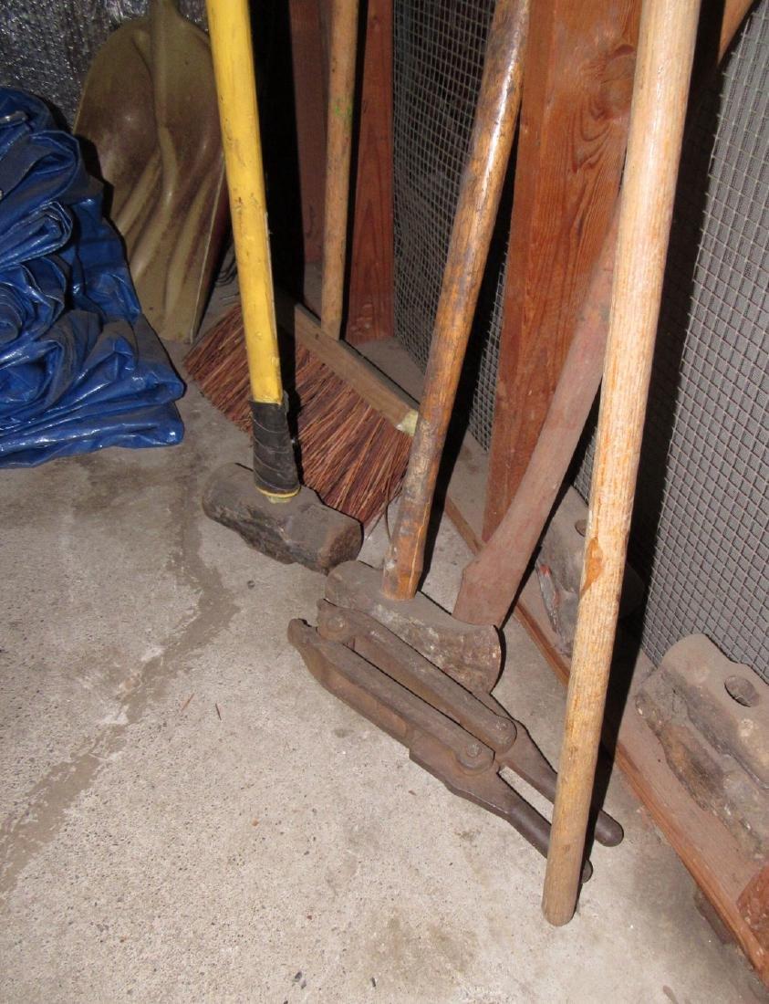 Snakes Hedge Trimmers Sledge Hammer Tarp - 3