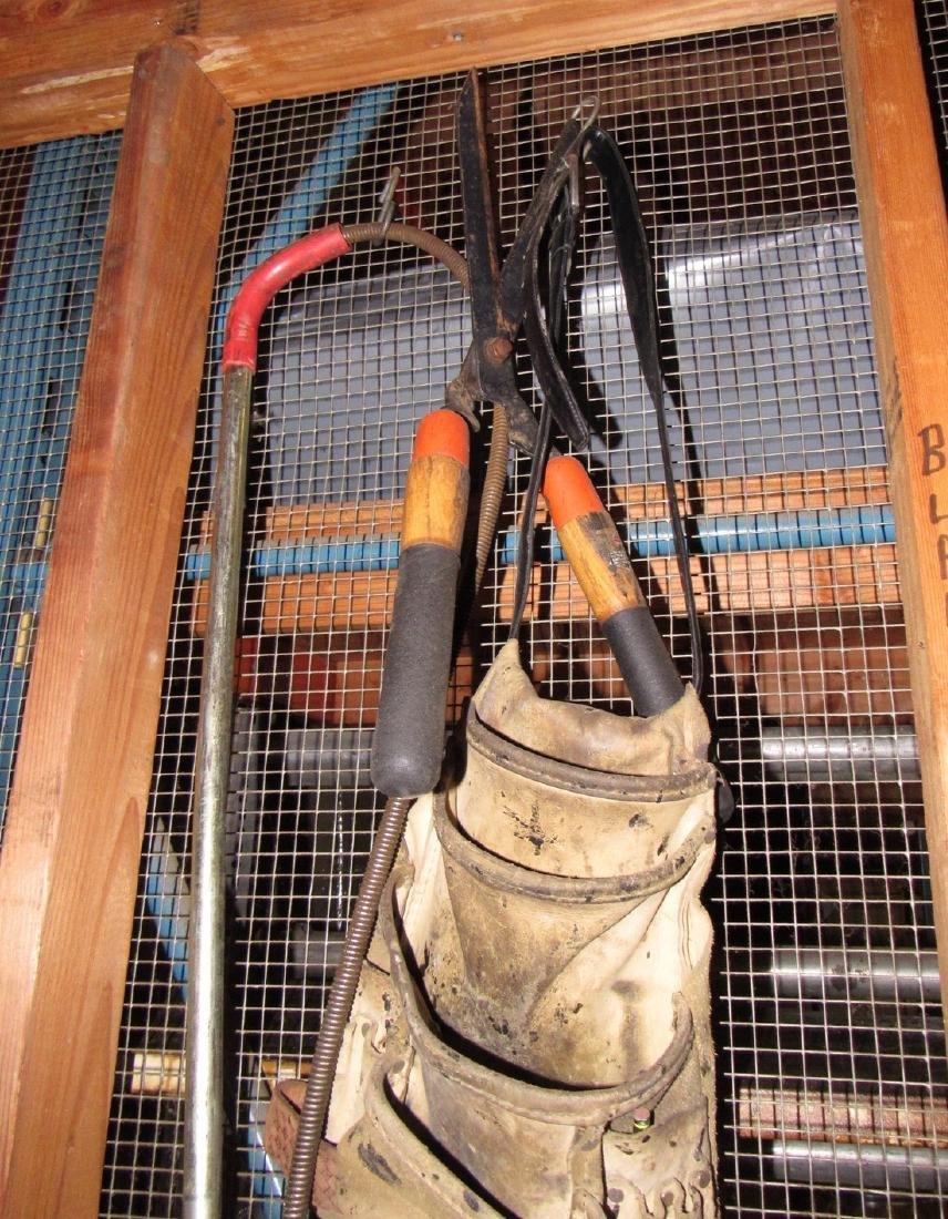 Snakes Hedge Trimmers Sledge Hammer Tarp - 6