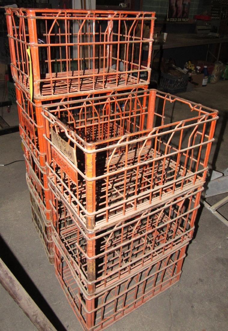 7 Vintage 1968 & 69 Farmland Wire Milk Crates - 2