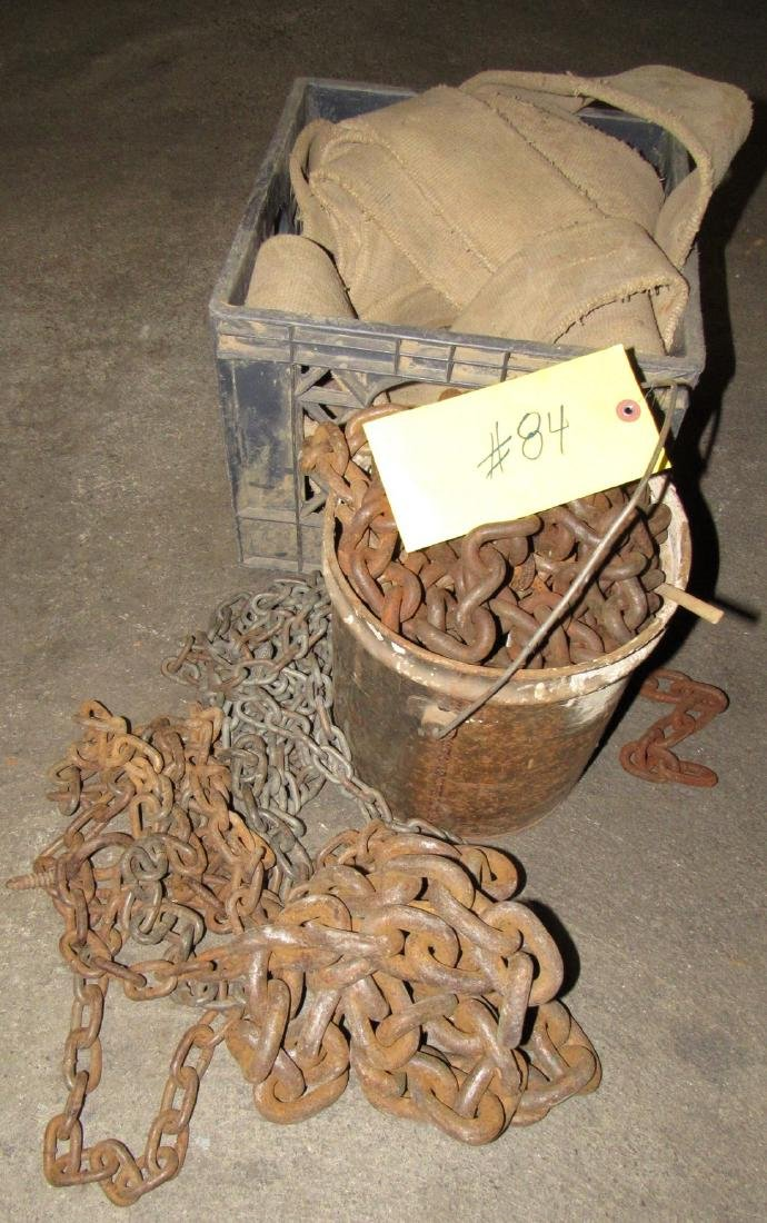 Scrap Pieces of Chain & Discharge Hose