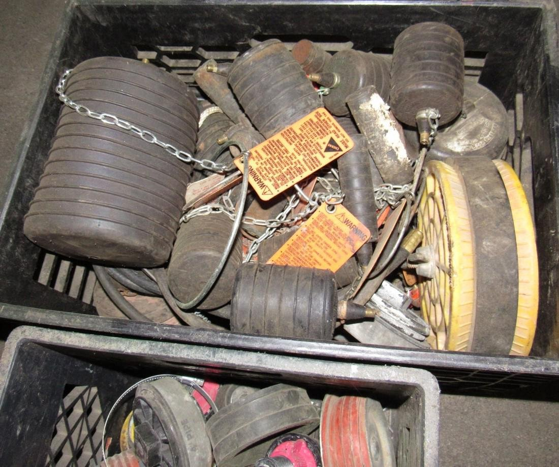 2 Crates of Test Plugs & Cherne Test Balls - 2