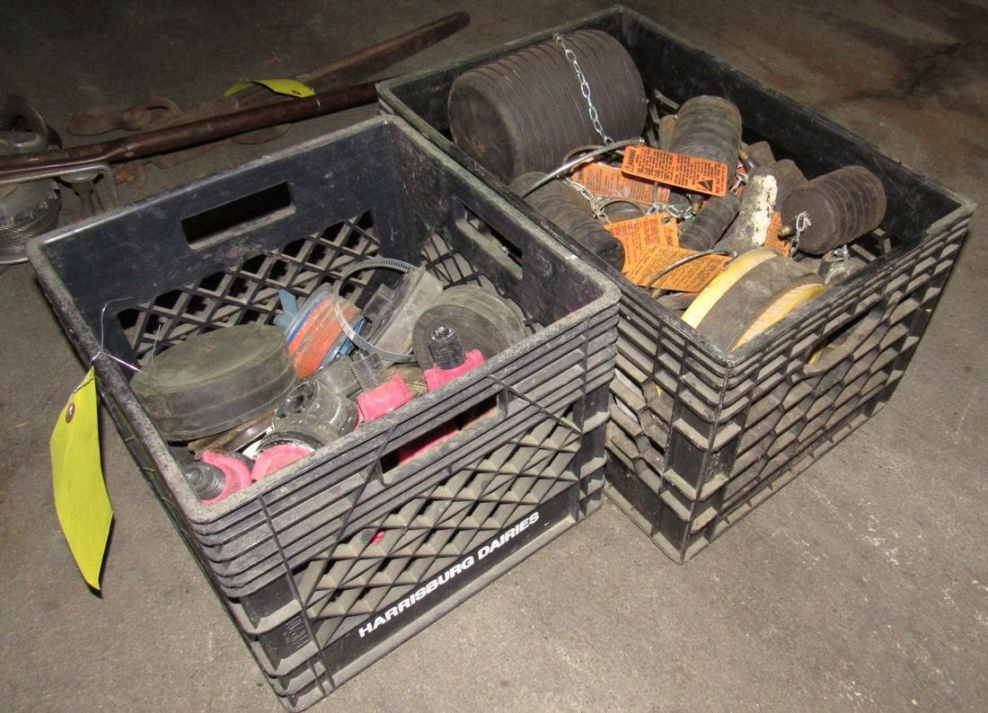2 Crates of Test Plugs & Cherne Test Balls - 3