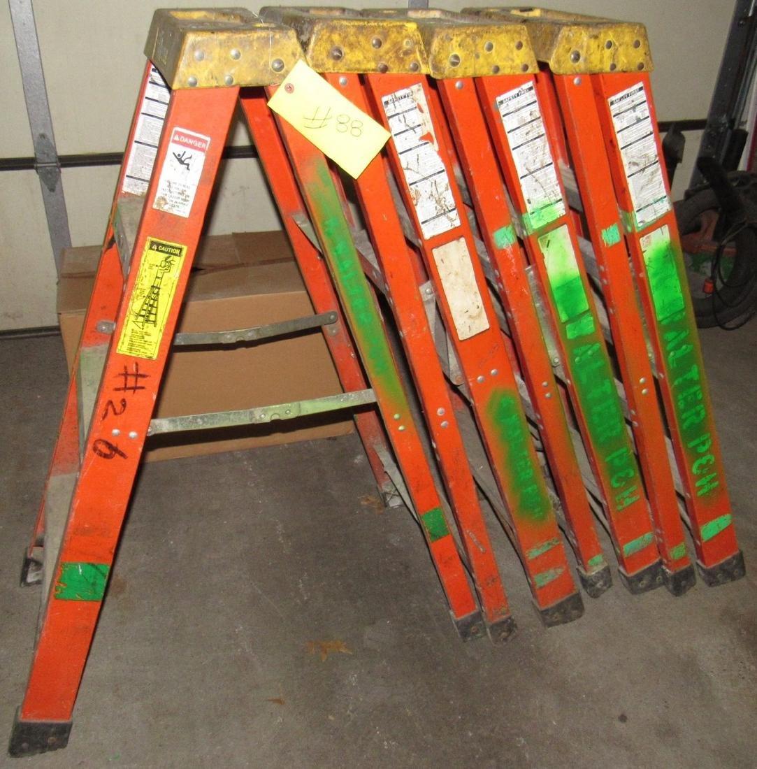 4 Fiberglass Step Ladders