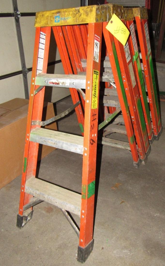 4 Fiberglass Step Ladders - 2