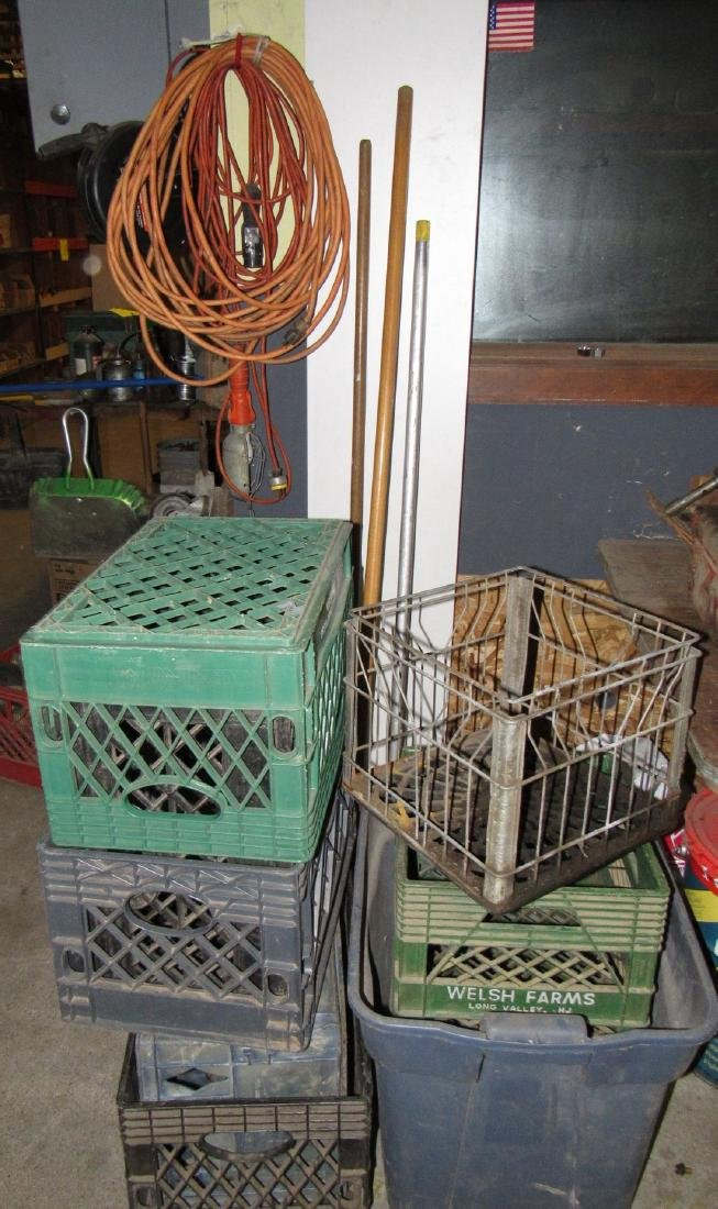 Brooms Milk Crates & Extension Reel