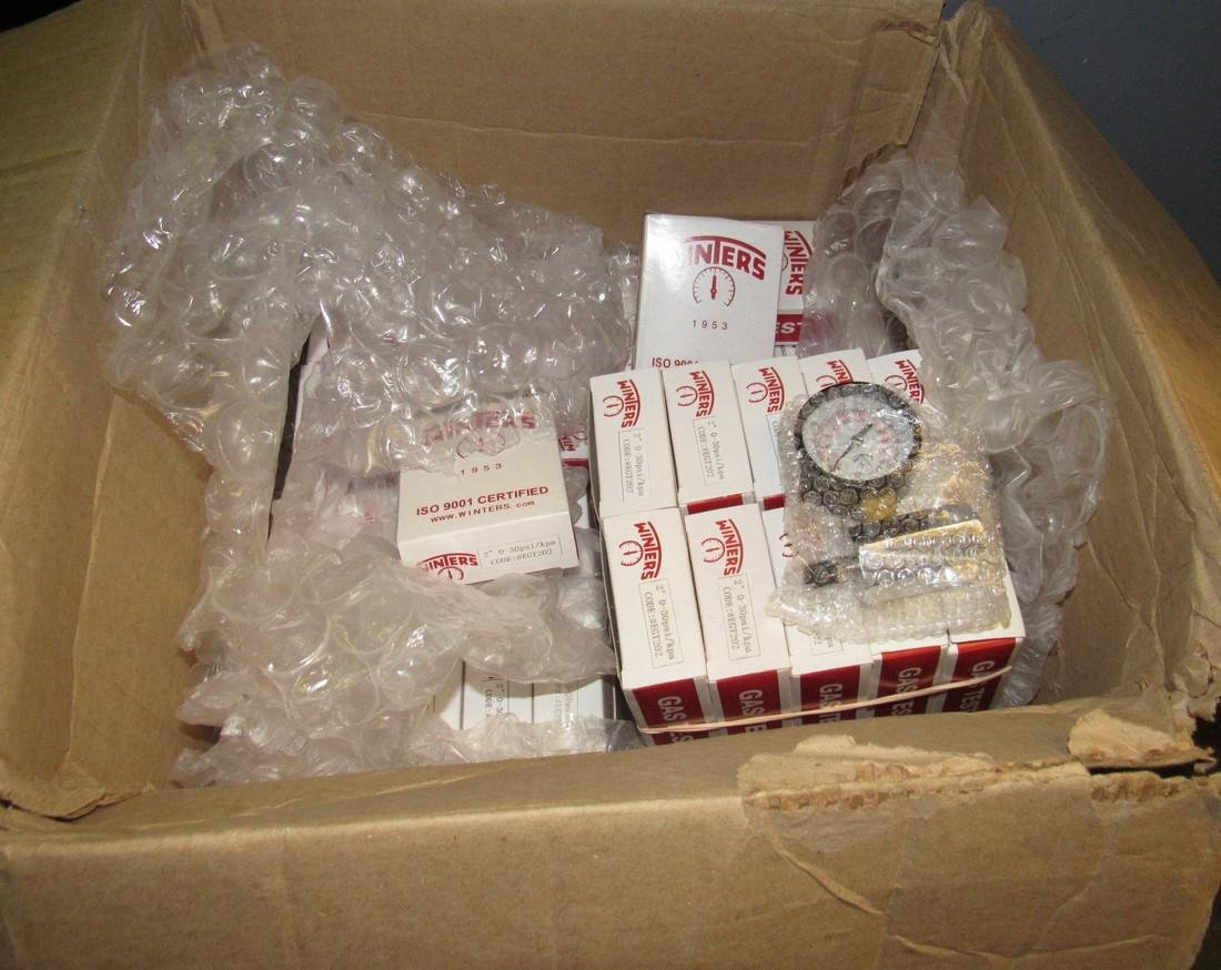 """53 Winters ISO 9001 Gas Test Gauges 2"""" 0-30psi"""