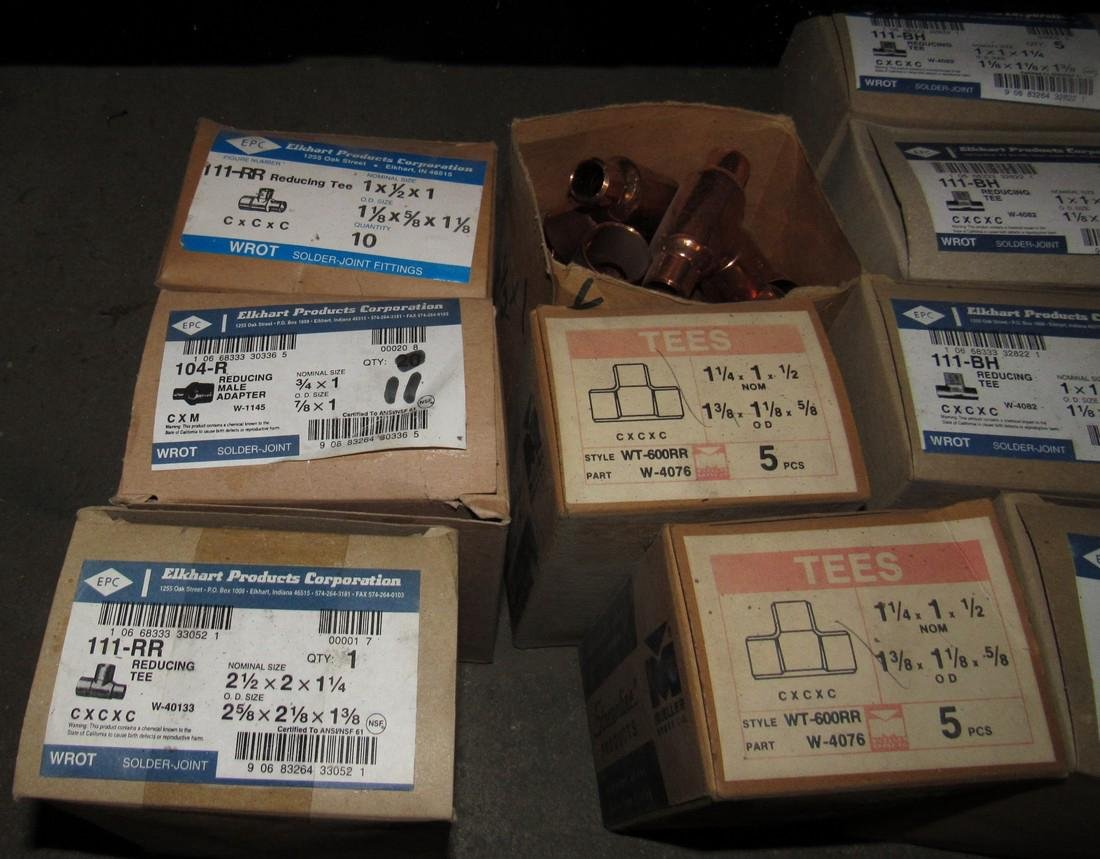 "1/2"" & 3/4"" Copper Pipe Tubing Fittings Reducers - 3"