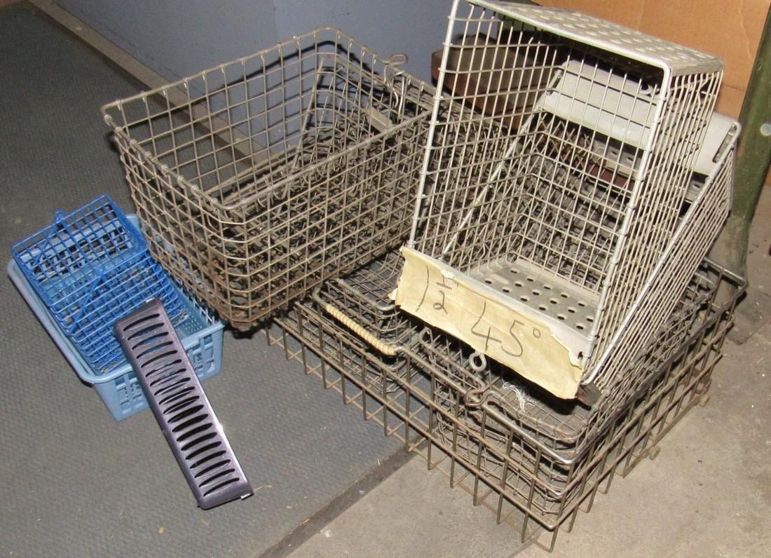 7 Vintage Wire Locker Baskets