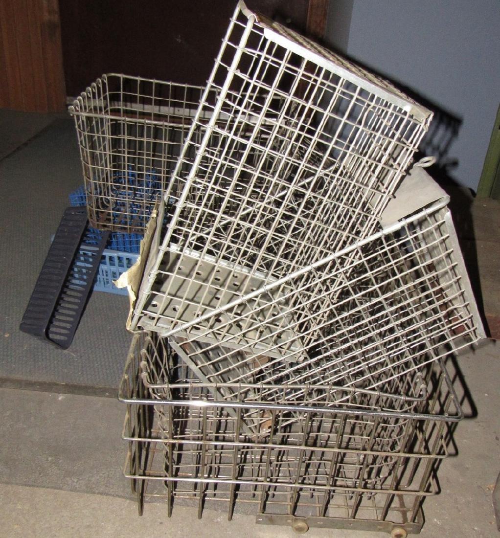 7 Vintage Wire Locker Baskets - 2
