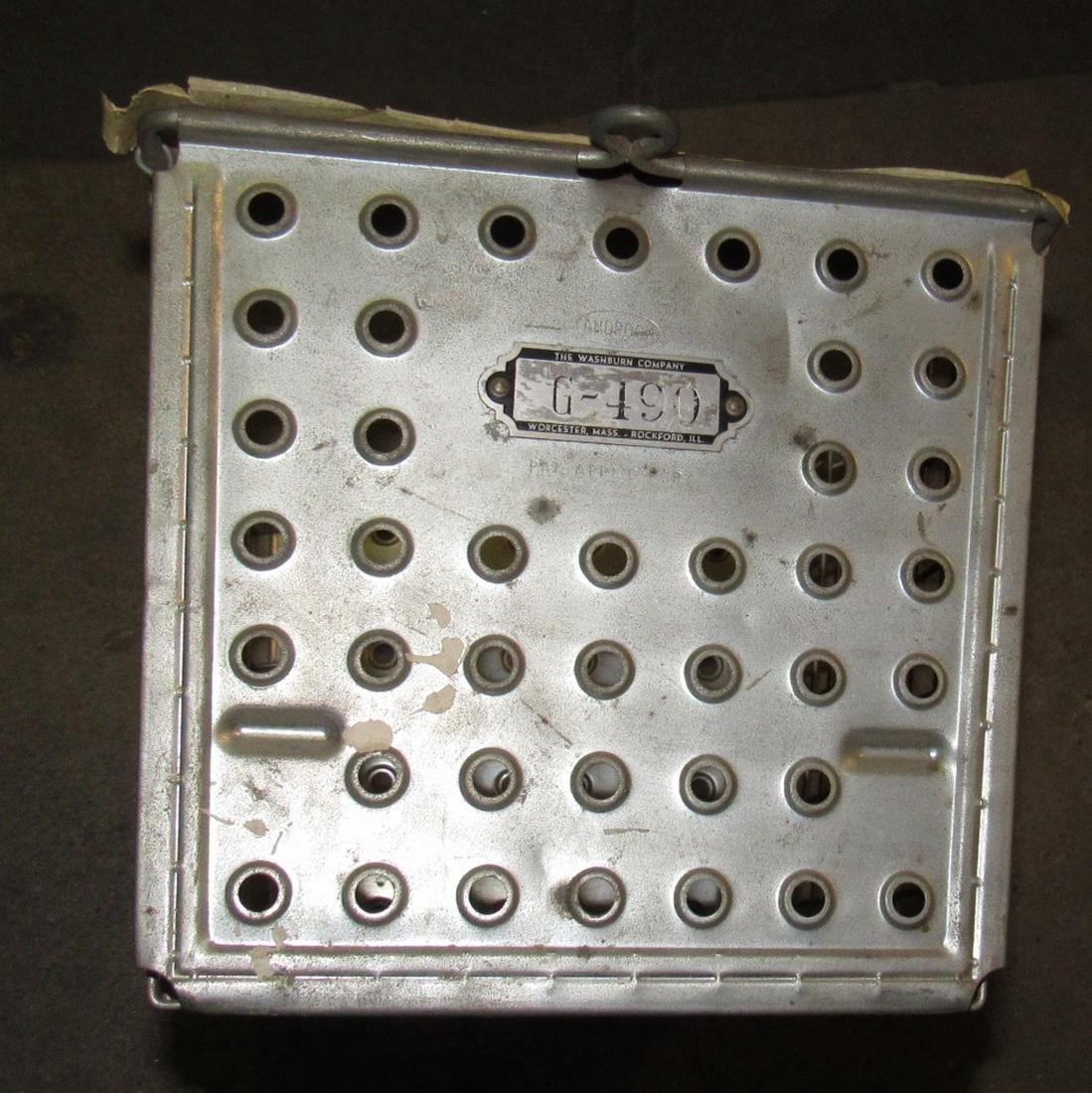 7 Vintage Wire Locker Baskets - 3