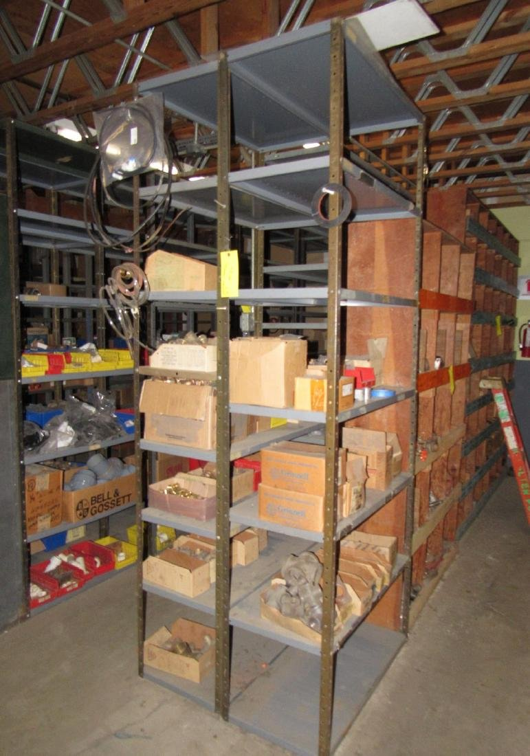 6 Metal Shelving Units