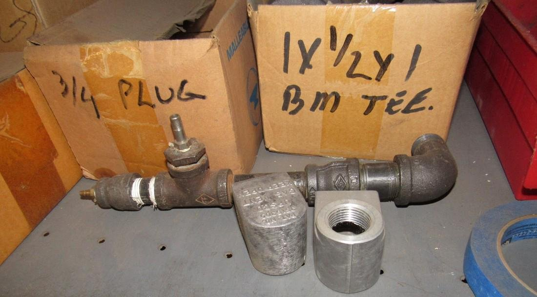 """Iron Pipe Fittings tee's Flanges 45's Plugs 1/2"""" 3/4"""" - 3"""