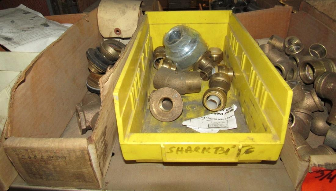 Large Lot of Brass Fittings Elbows Tee's Caps - 2