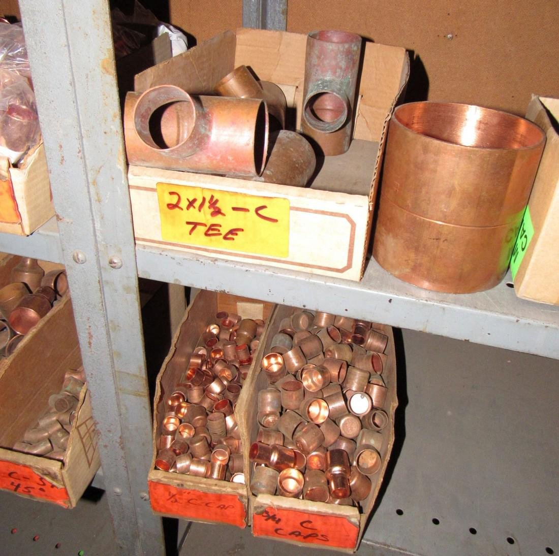 Large Lot of Copper Pipe Tubing Fittings - 3