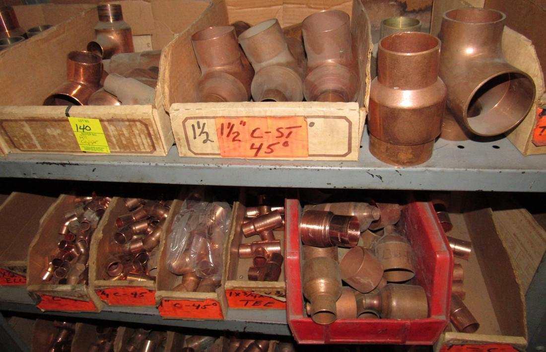 Large Lot of Copper Pipe Tubing Fittings - 5