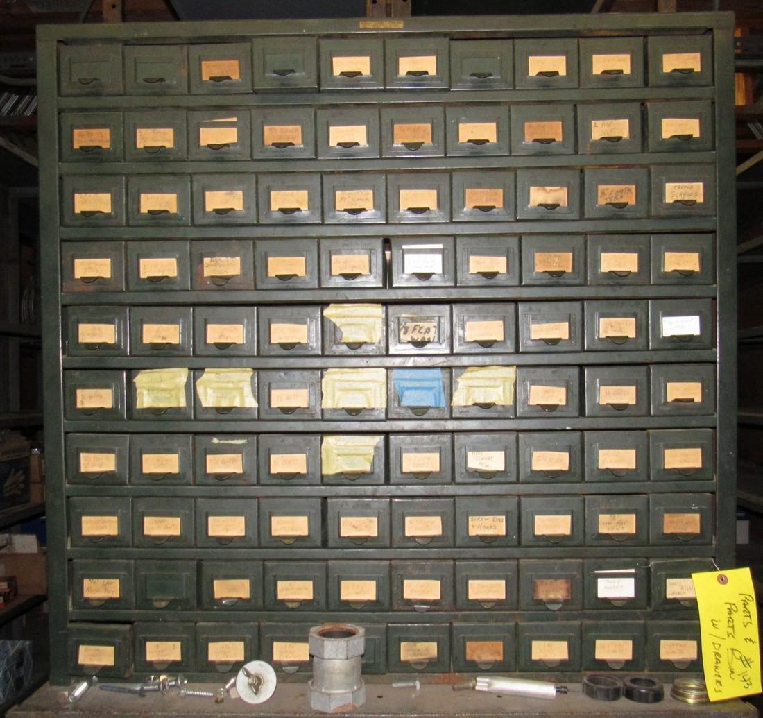 Vintage Hobart 100 Drawer Industrial Parts Cabinet