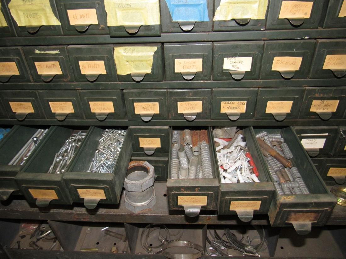Vintage Hobart 100 Drawer Industrial Parts Cabinet - 2