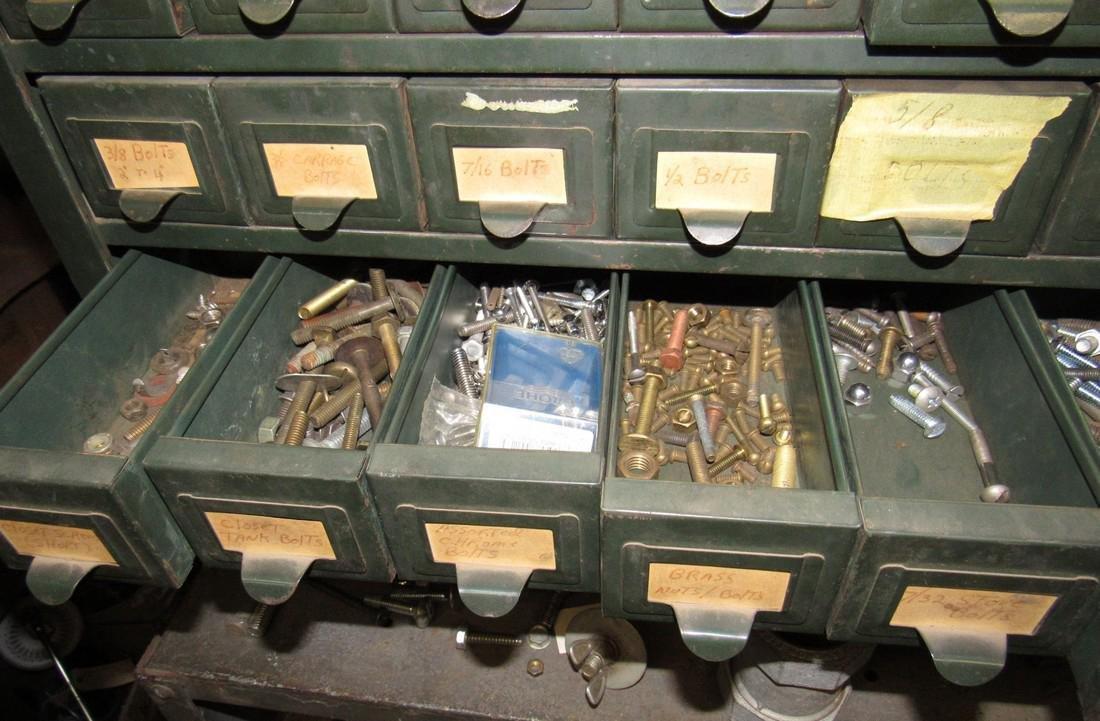 Vintage Hobart 100 Drawer Industrial Parts Cabinet - 3