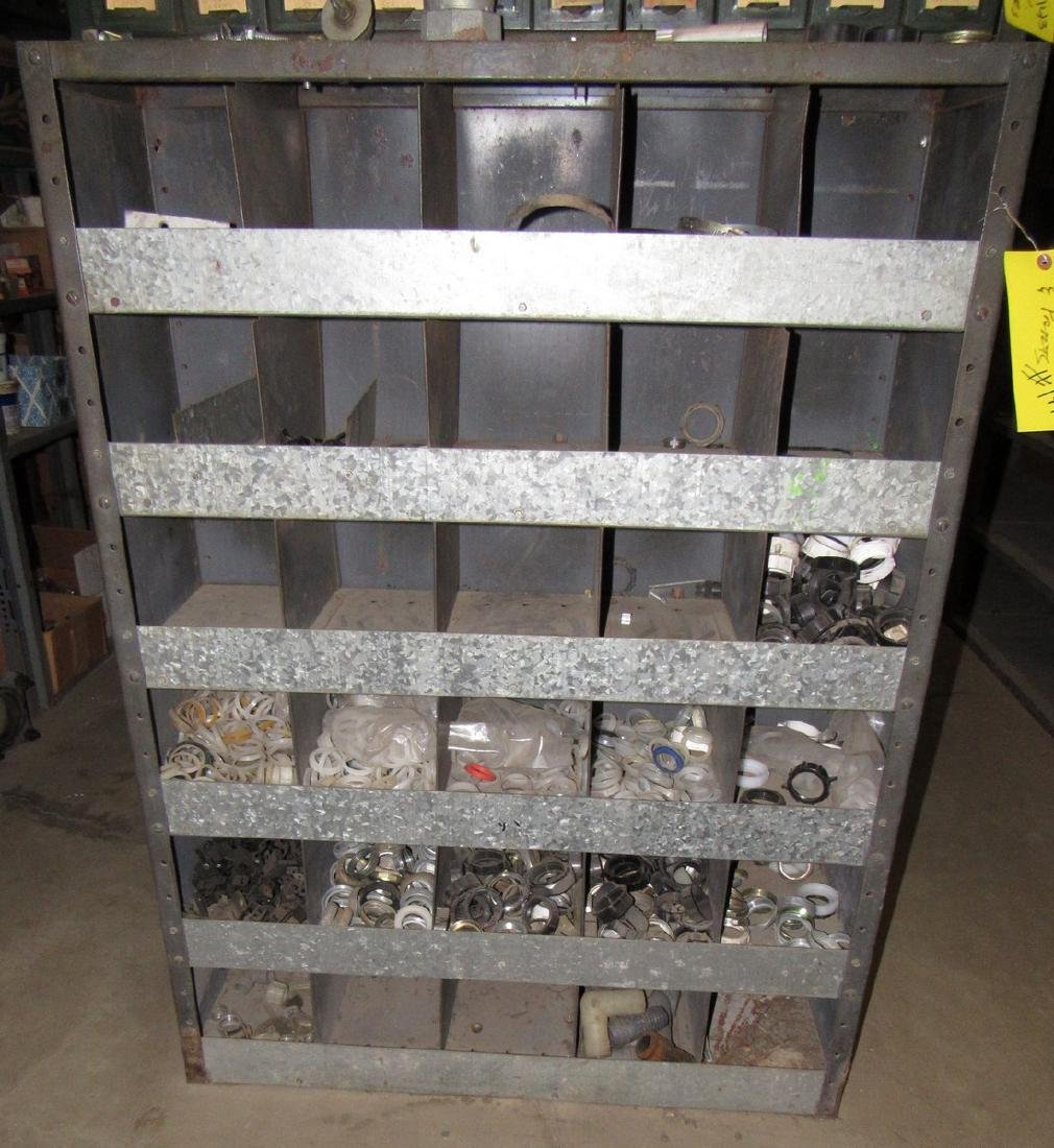 Vintage Industrial Parts Cabinet w/ O Rings & Nuts