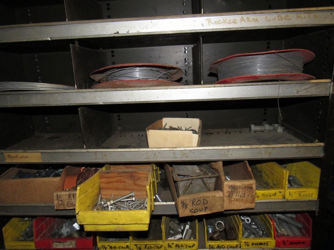 Parts Shelf Hardware Lag Bolts Split Rings Nuts - 2