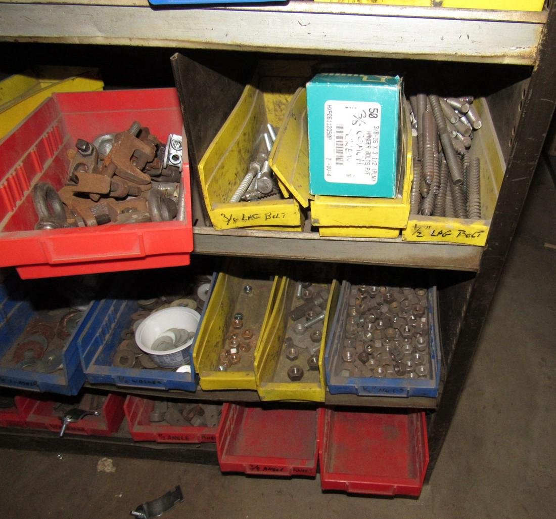Parts Shelf Hardware Lag Bolts Split Rings Nuts - 6