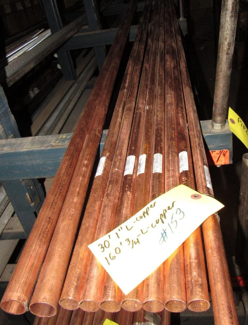 "L Copper Tubing Pipe 3/4"" & 1"" - 2"