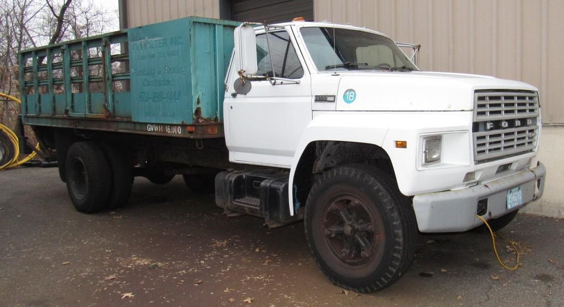 1984 Ford F600 Diesel Rack Body Truck
