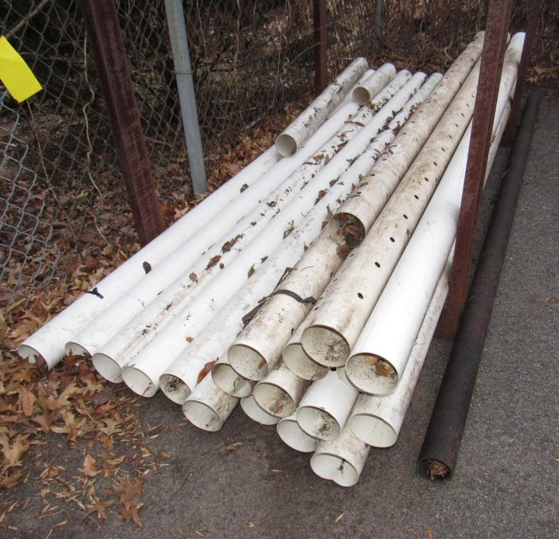"4"" PVC Pipe And 2 Pipe Racks - 2"