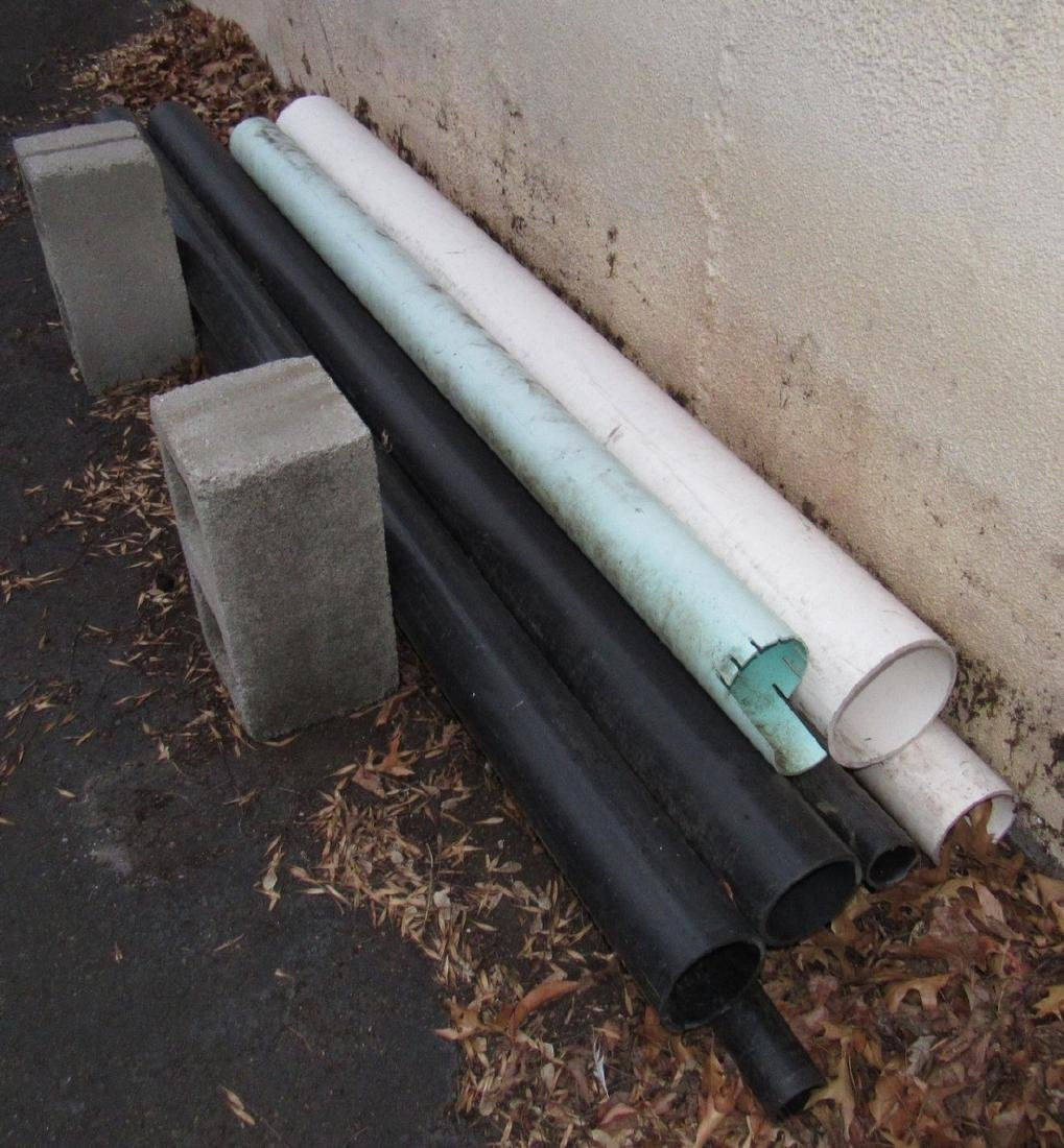 """2"""" 3"""" ABS Pipe Racks Ductile , & misc - 5"""