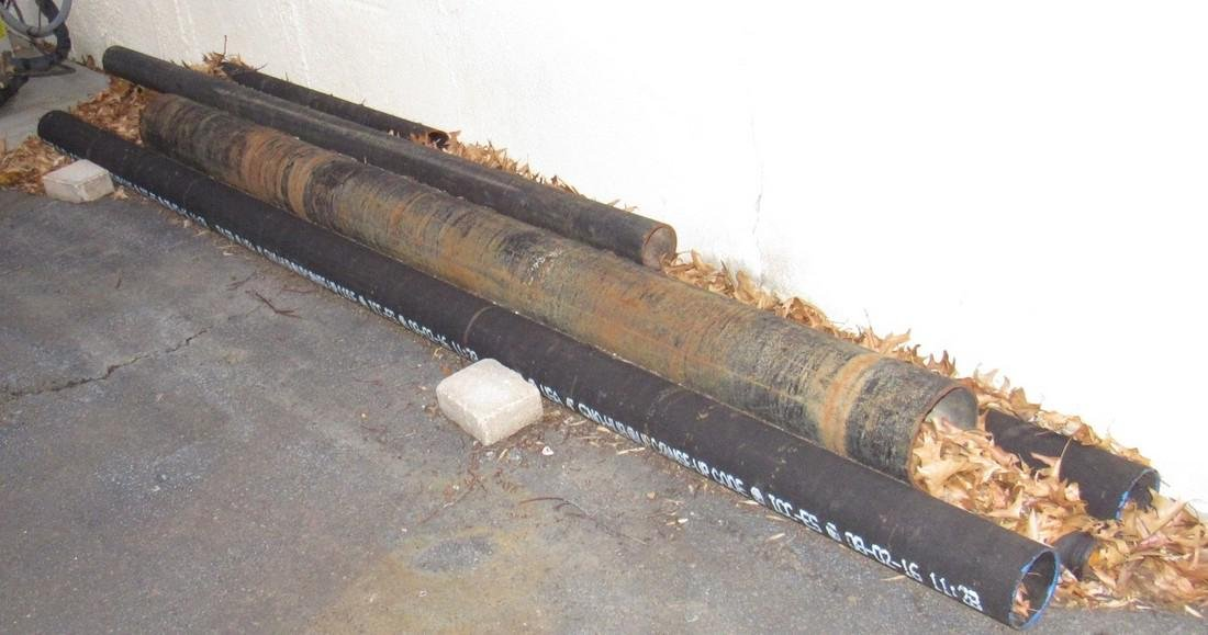 """2"""" 3"""" ABS Pipe Racks Ductile , & misc - 7"""