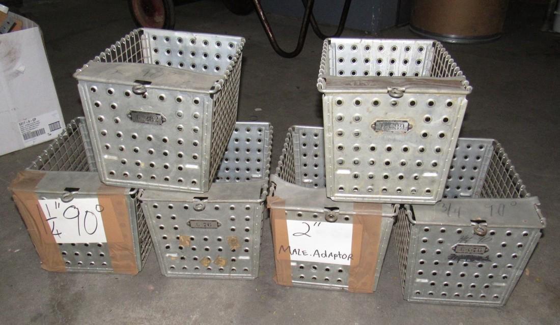 6 Vintage Locker Baskets