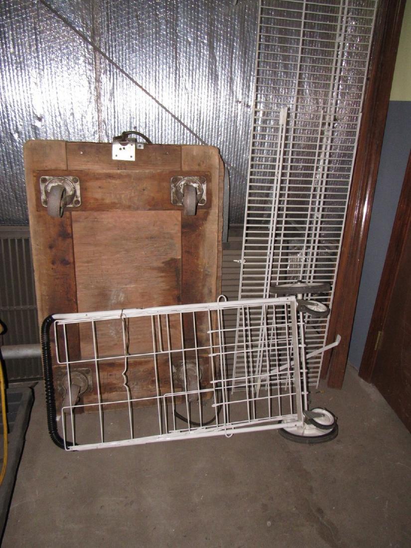 Dolly Cart & Metal Shelving