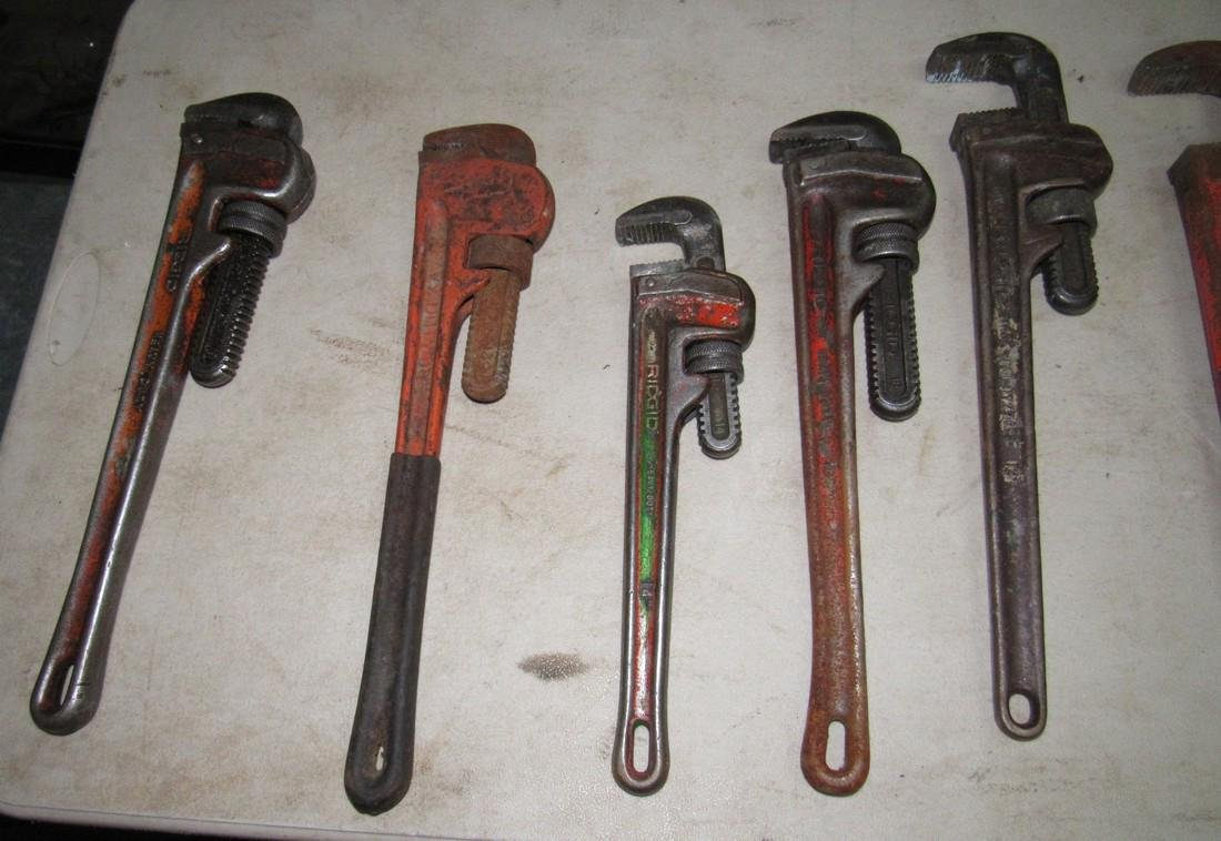 9 Pipe Wrenches - 2