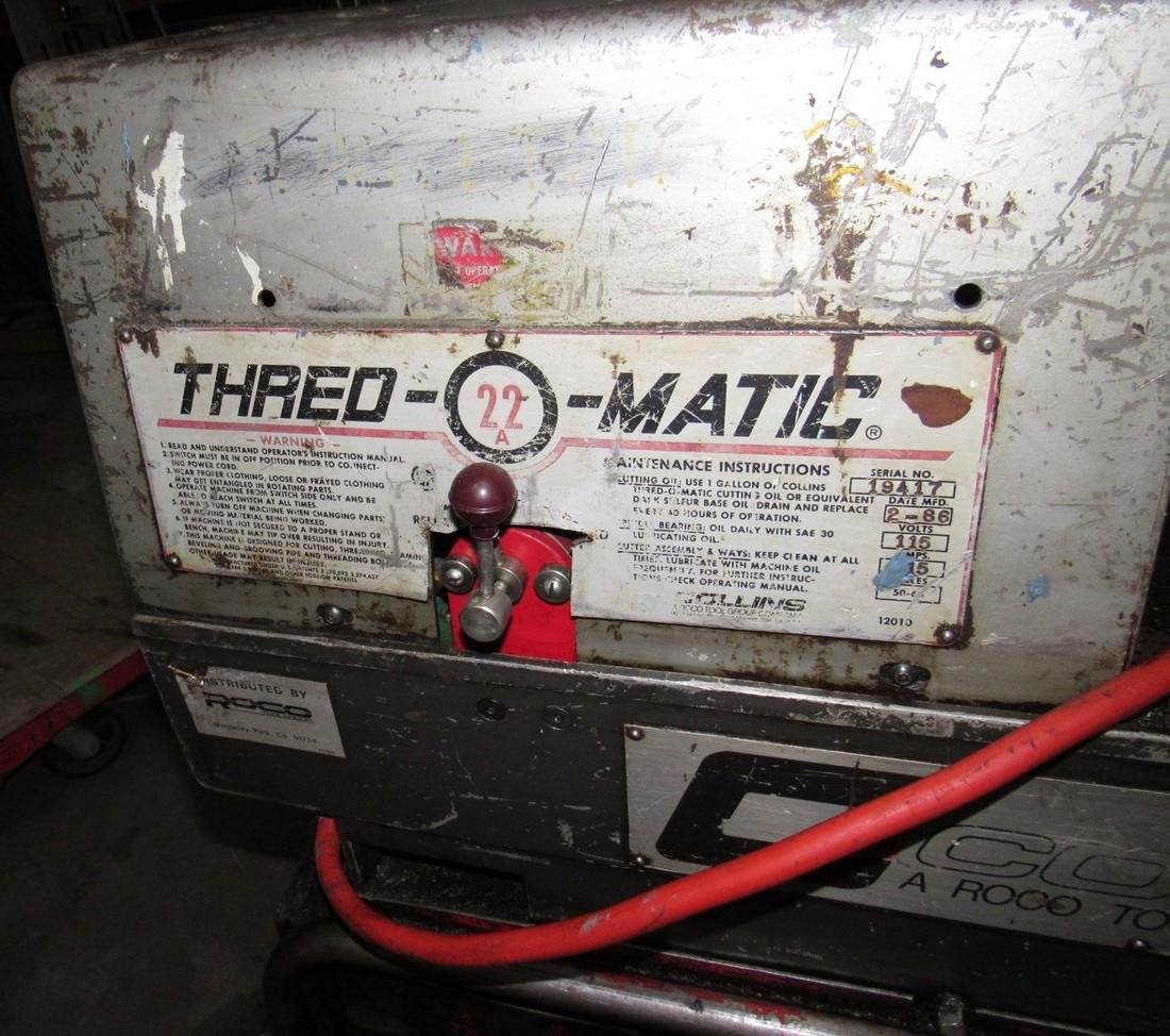 Collins Thred-O-Matic 22a Pipe Threader - 2