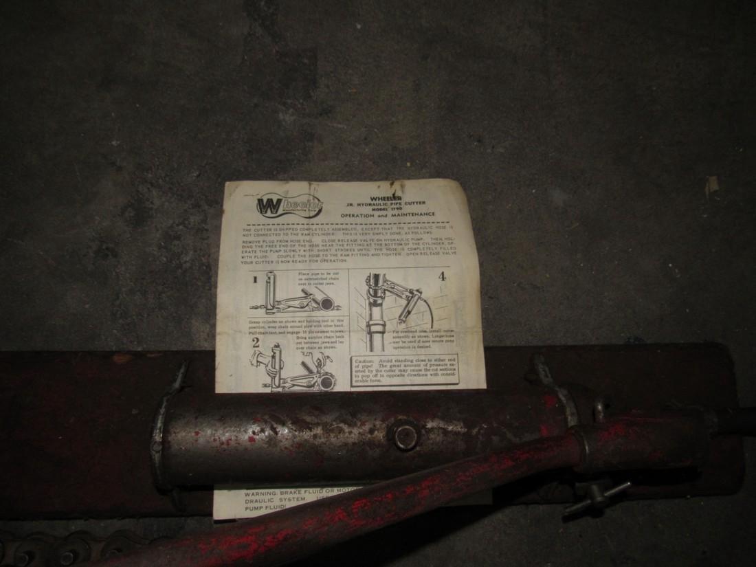 Wheeler Jr. Hydraulic Pipe Cutter Model 1790 - 2