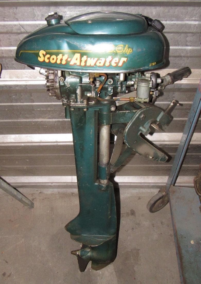 Vintage Scott Atwater 3.6hp Outboard Boat Motor