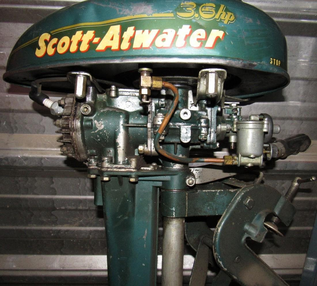 Vintage Scott Atwater 3.6hp Outboard Boat Motor - 3