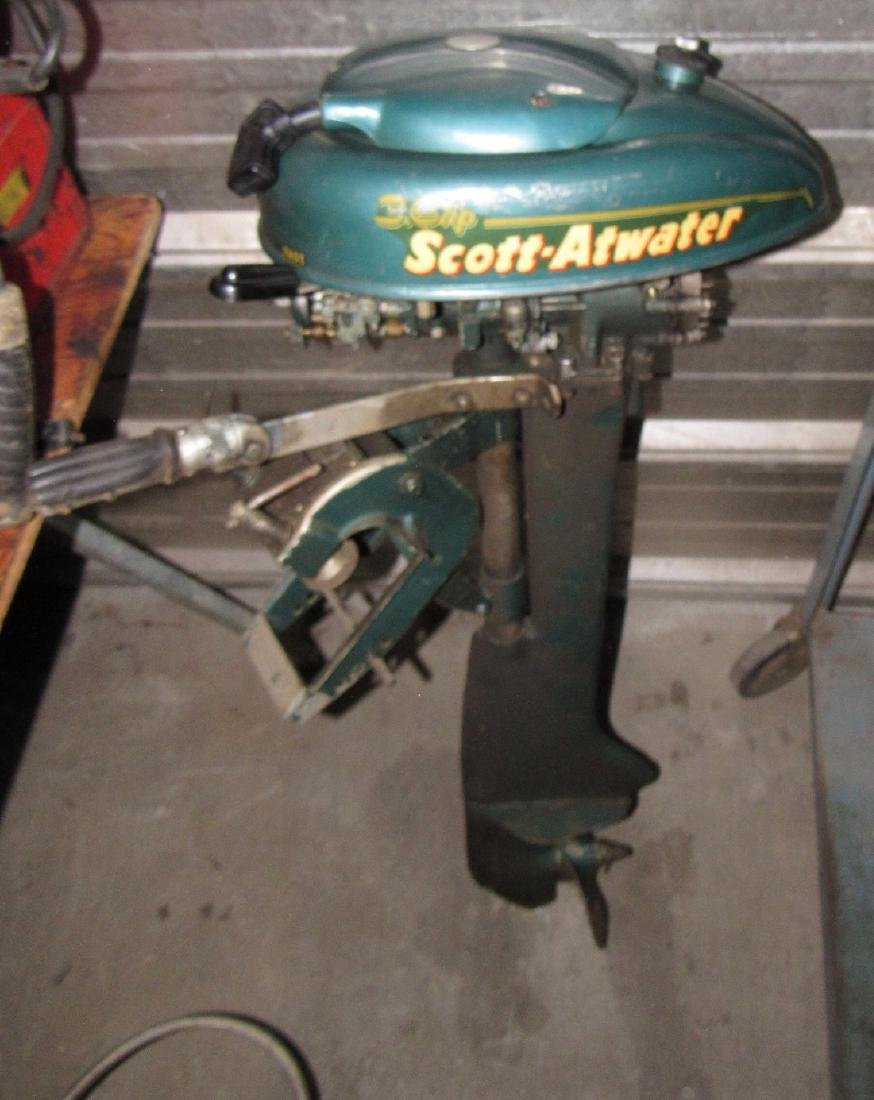 Vintage Scott Atwater 3.6hp Outboard Boat Motor - 5