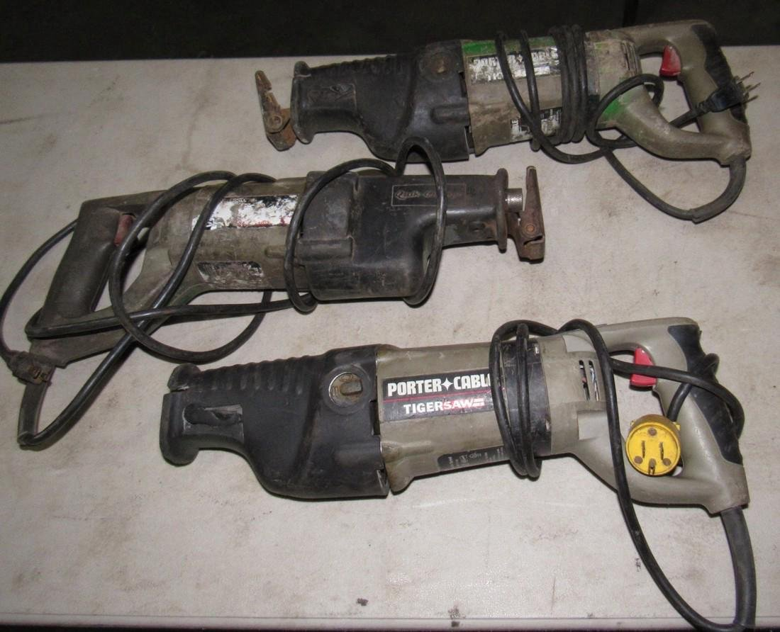 3 Porter Cable Tiger Reciprocating Saws