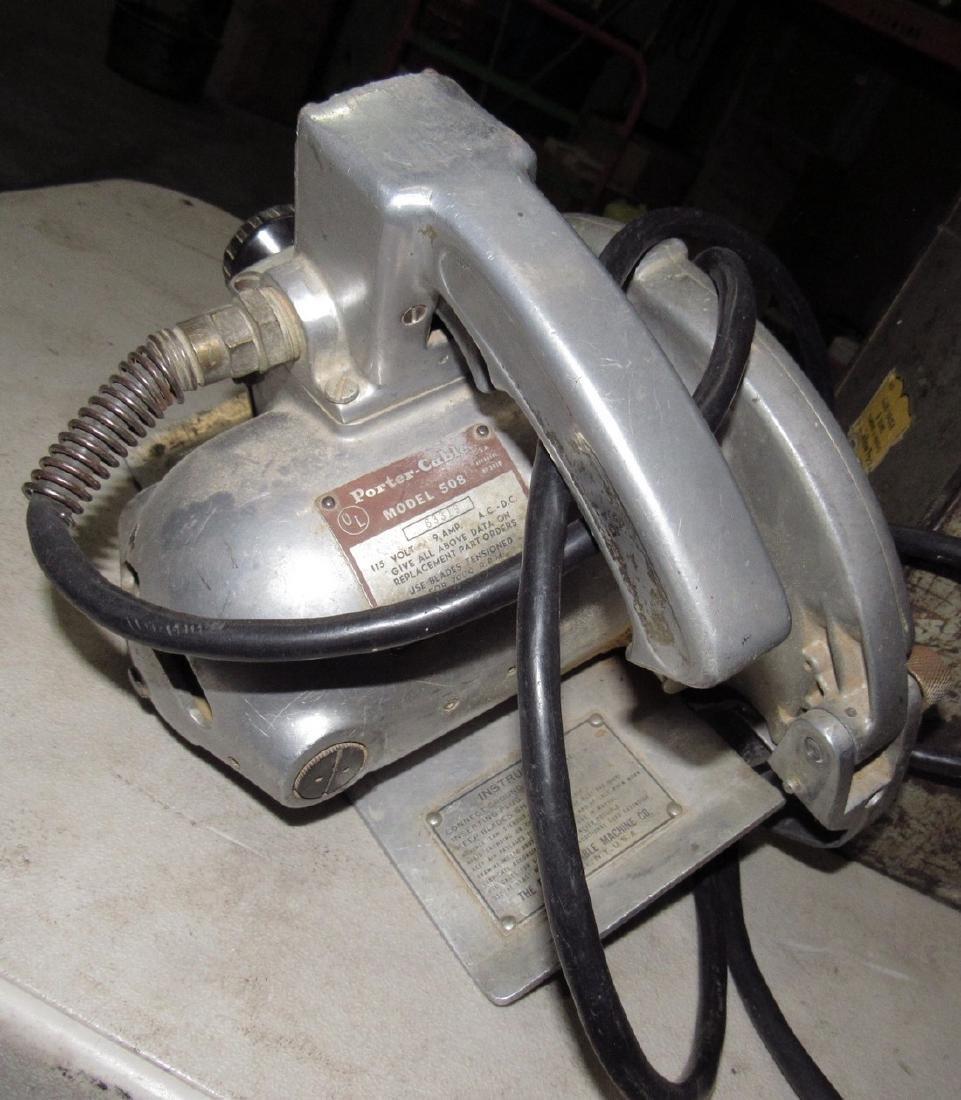 Vintage Porter Cable 508 Circular Saw - 3