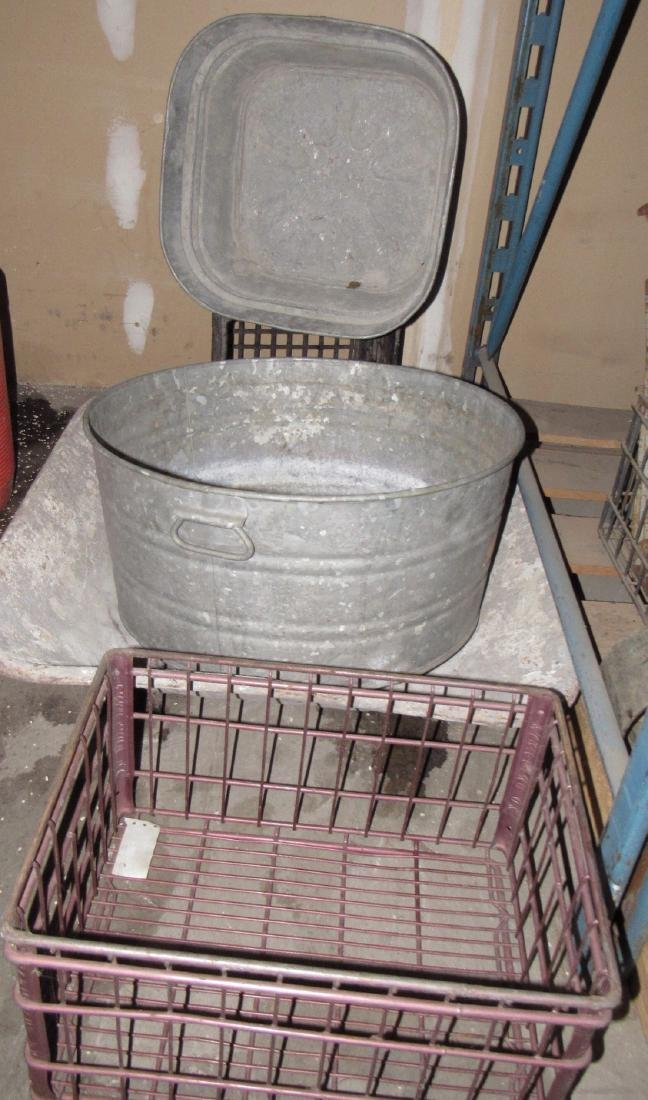 Galvanized Tubs Mud Pan Wire Milk Crate