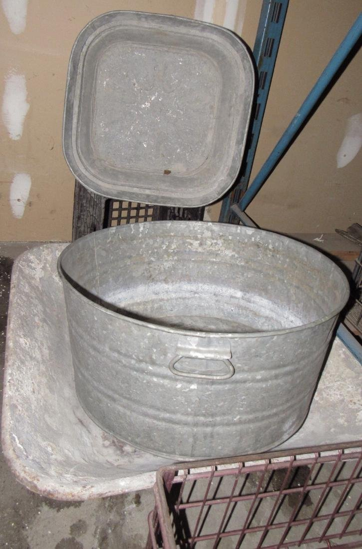 Galvanized Tubs Mud Pan Wire Milk Crate - 2