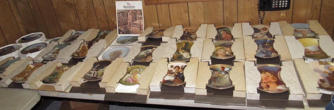 Lot of 44 Collector Plates Norman Rockwell Goebel - 2