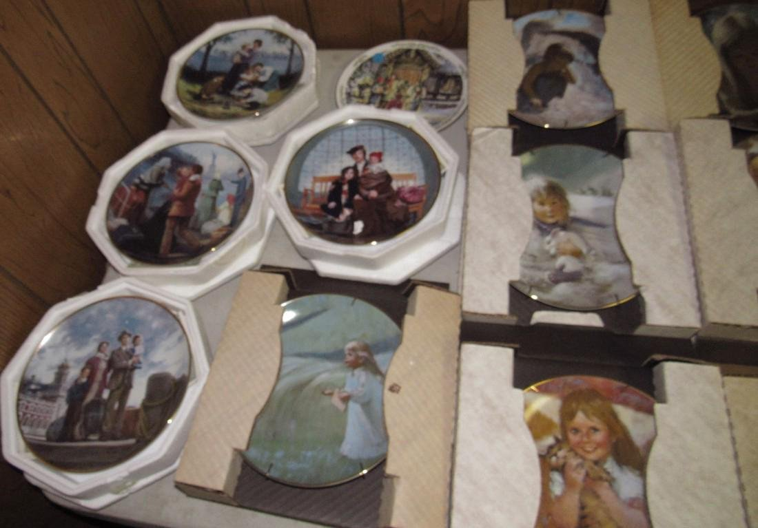 Lot of 44 Collector Plates Norman Rockwell Goebel - 3