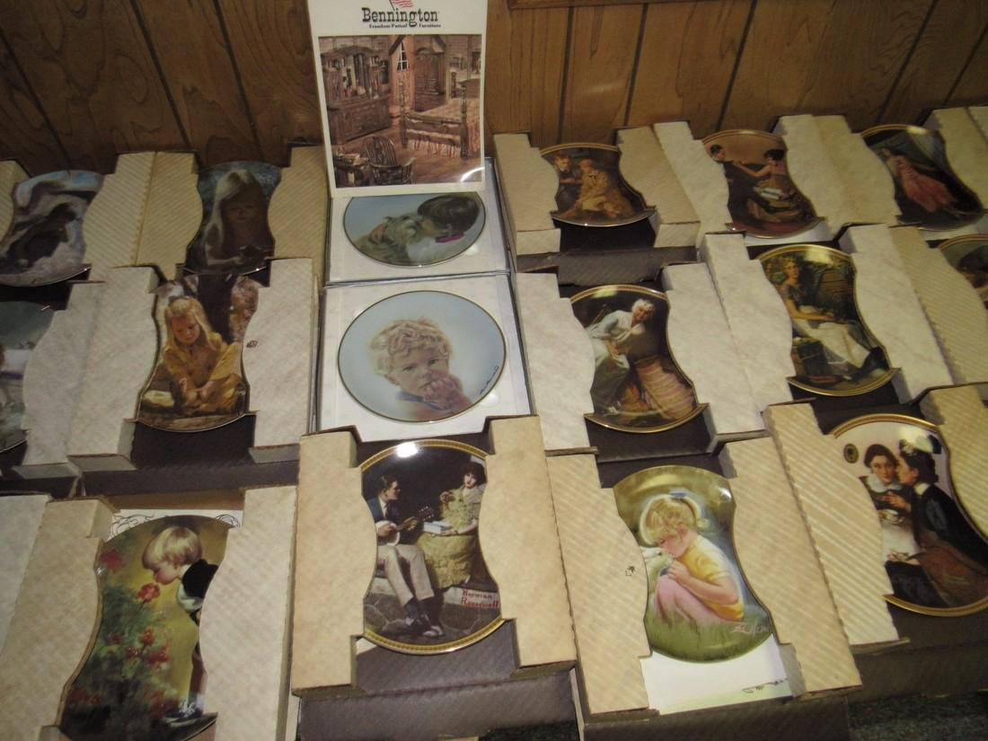 Lot of 44 Collector Plates Norman Rockwell Goebel - 4