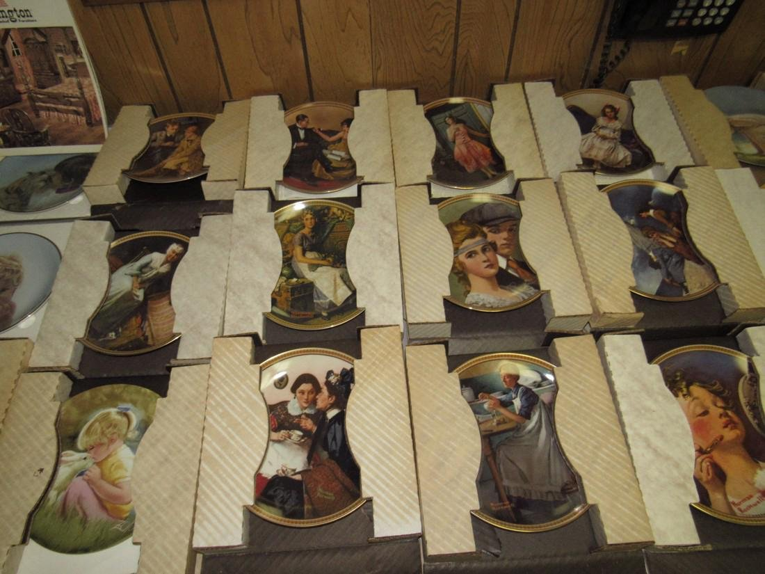 Lot of 44 Collector Plates Norman Rockwell Goebel - 5