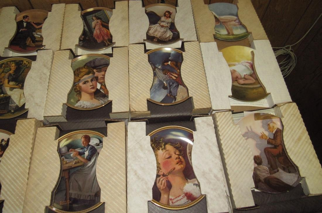 Lot of 44 Collector Plates Norman Rockwell Goebel - 6