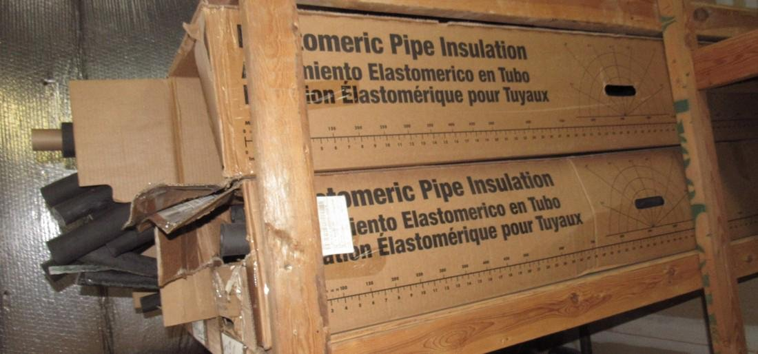 Boxes of Pipe Insulation - 2