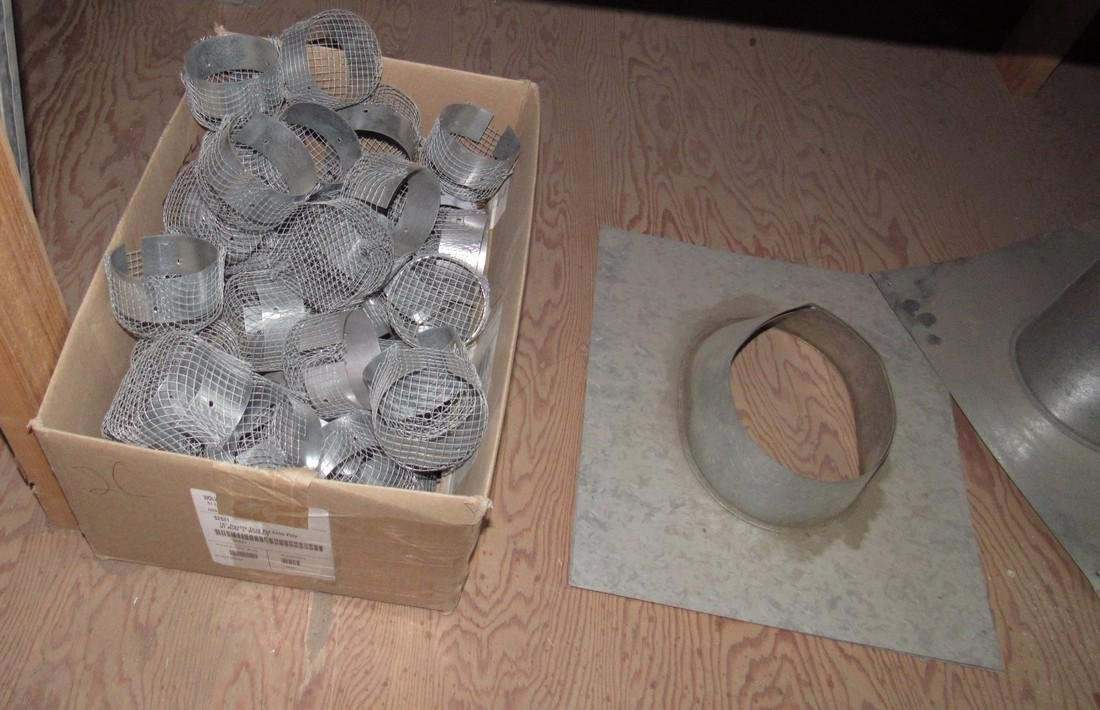 Duct Work Fittings Elbows Shelf Contents Lot - 2