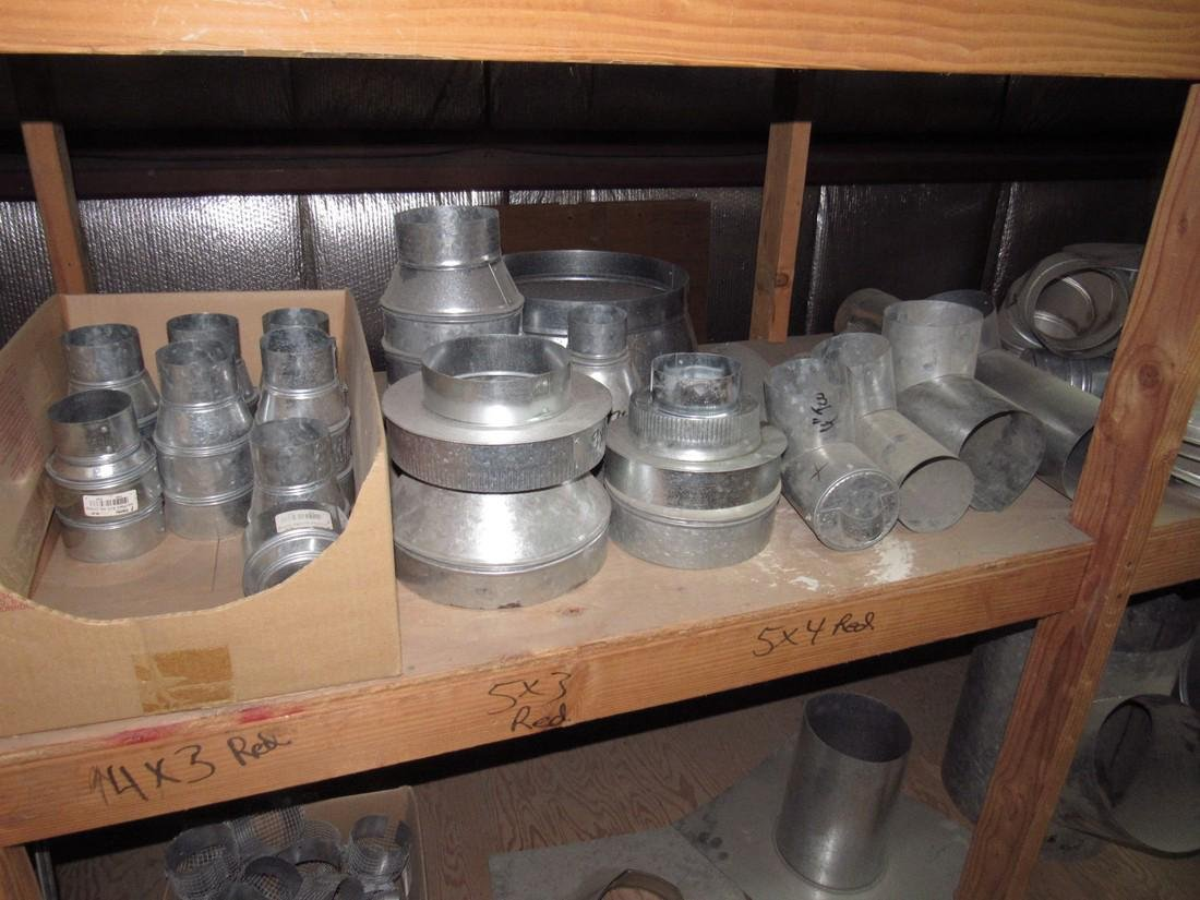 Duct Work Fittings Elbows Shelf Contents Lot - 3